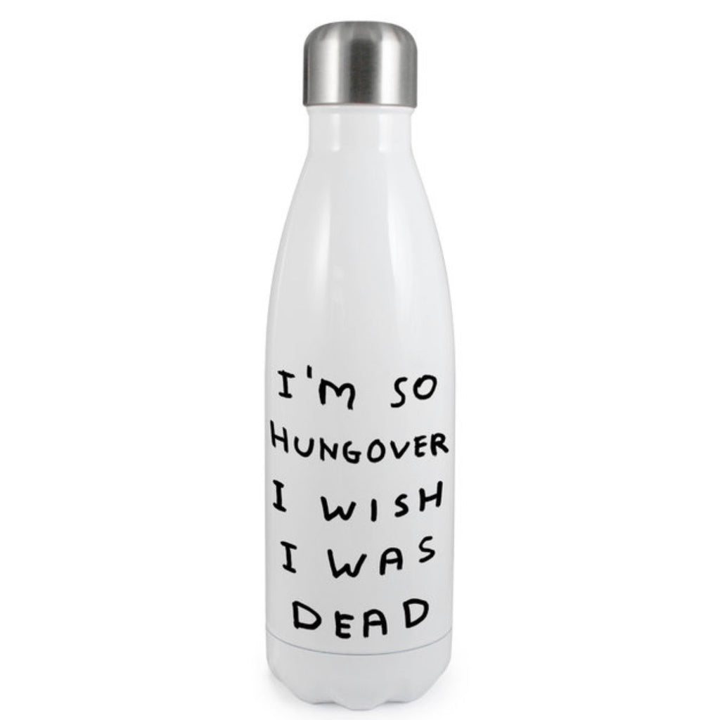 David Shrigley Hungover Thermal Water Bottle