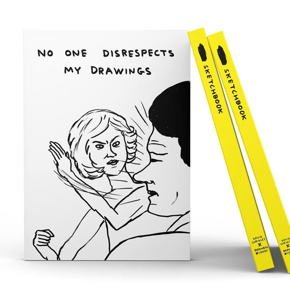 Disrespect my drawings Sketchbook by David Shrigley