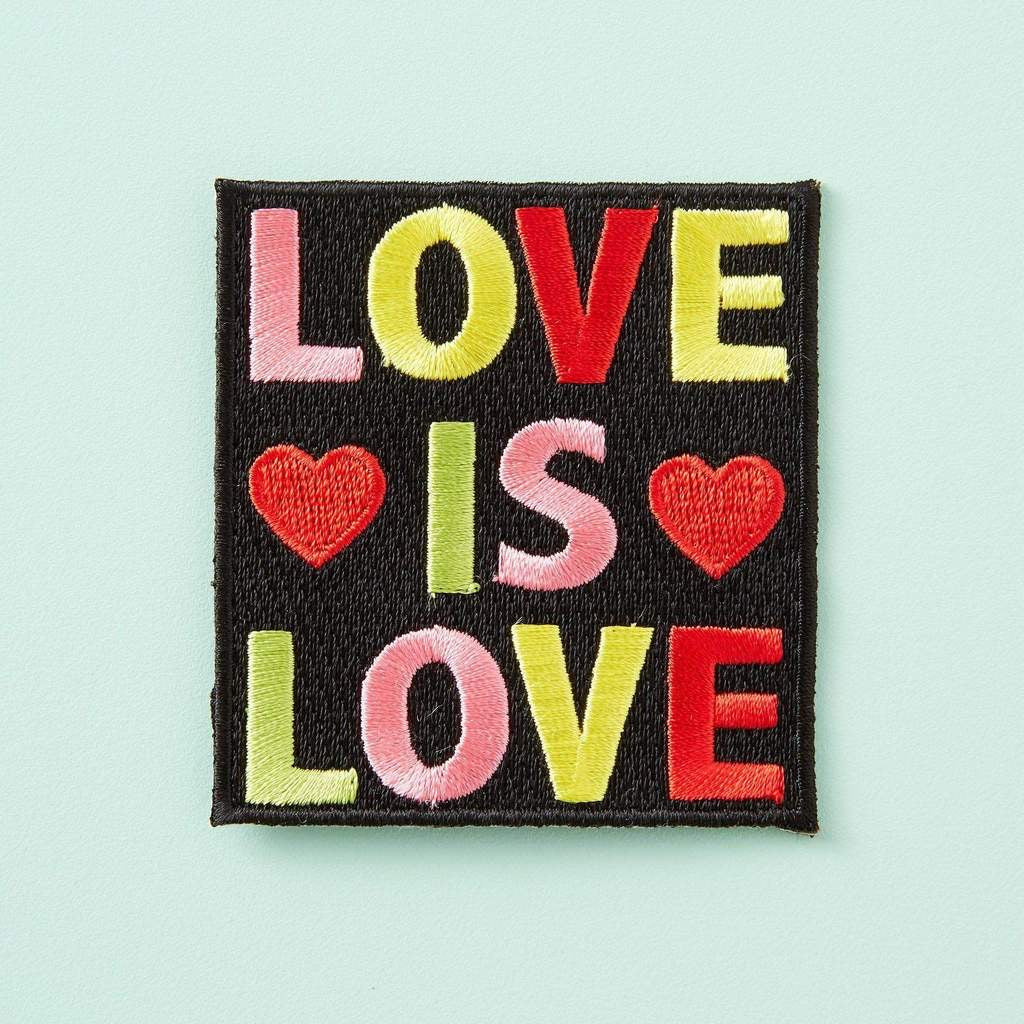 LOVE IS LOVE Embroidered Patch
