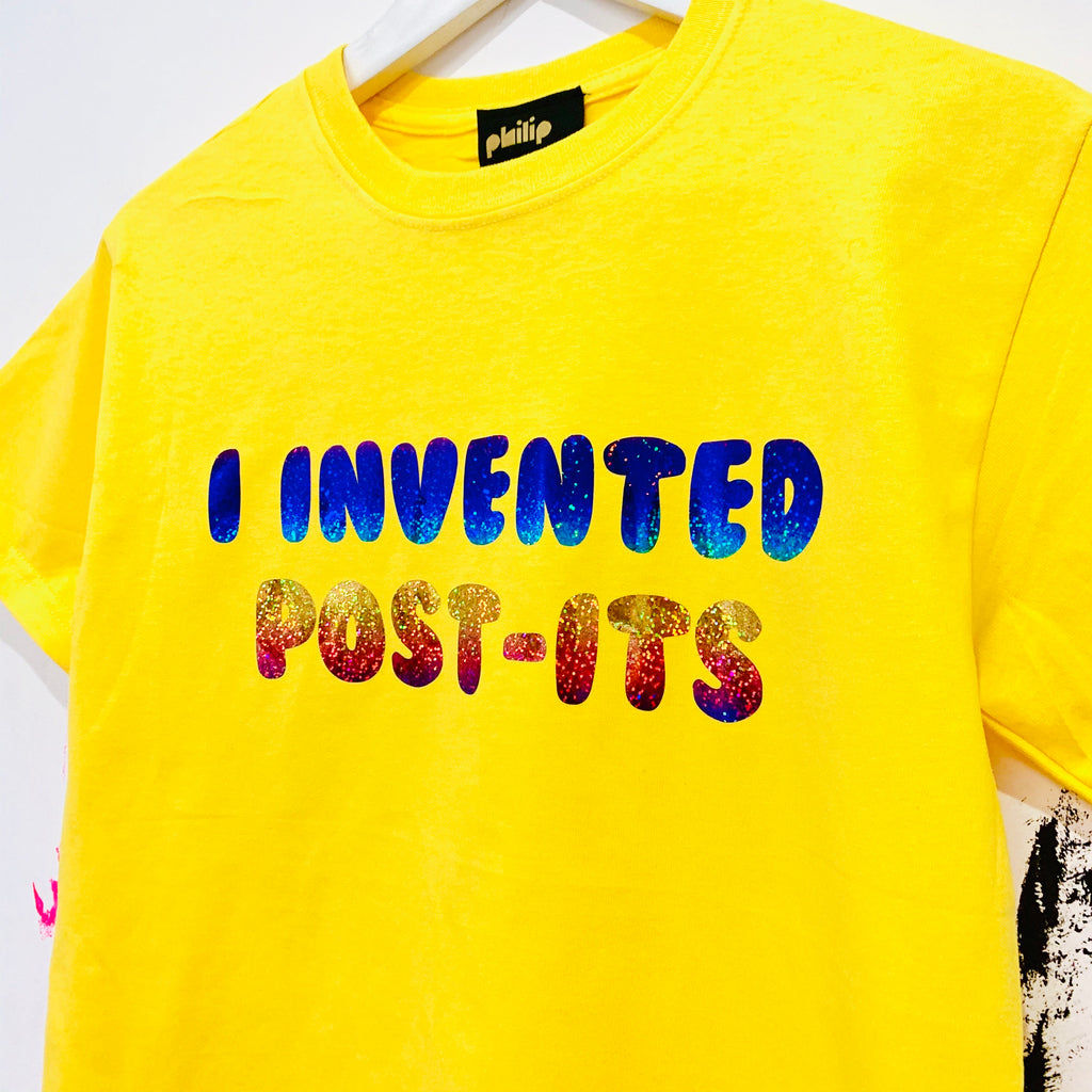 I Invented Post-It's T-Shirt - Yellow