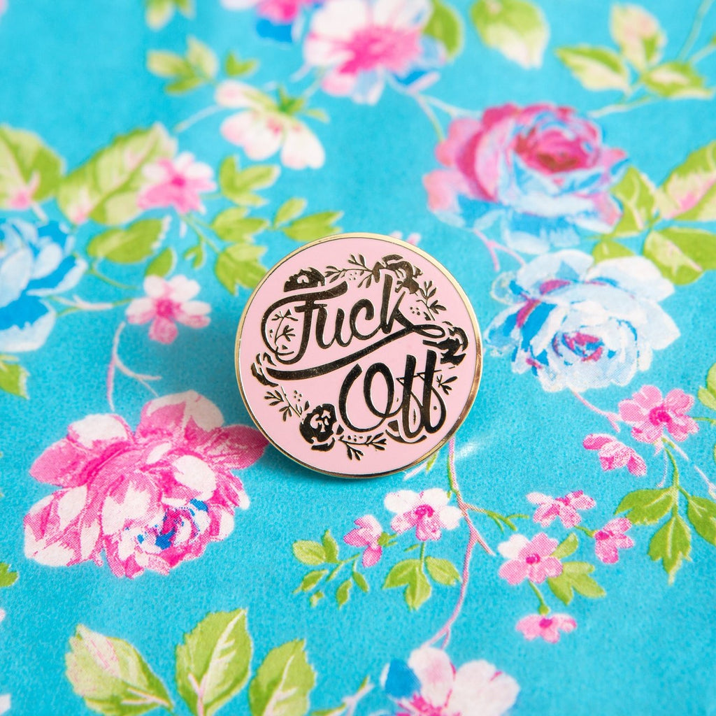 Fuck Off Floral Enamel Pin