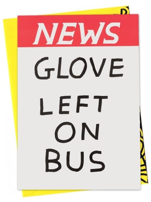 GLOVE LEFT ON BUS Greetings Card
