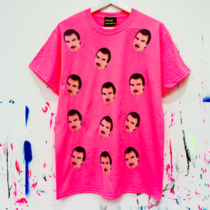 Tom Faces T-Shirt - Neon Pink