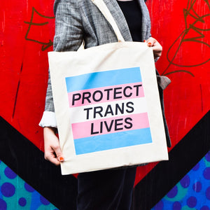 Protect Trans Lives Tote Bag