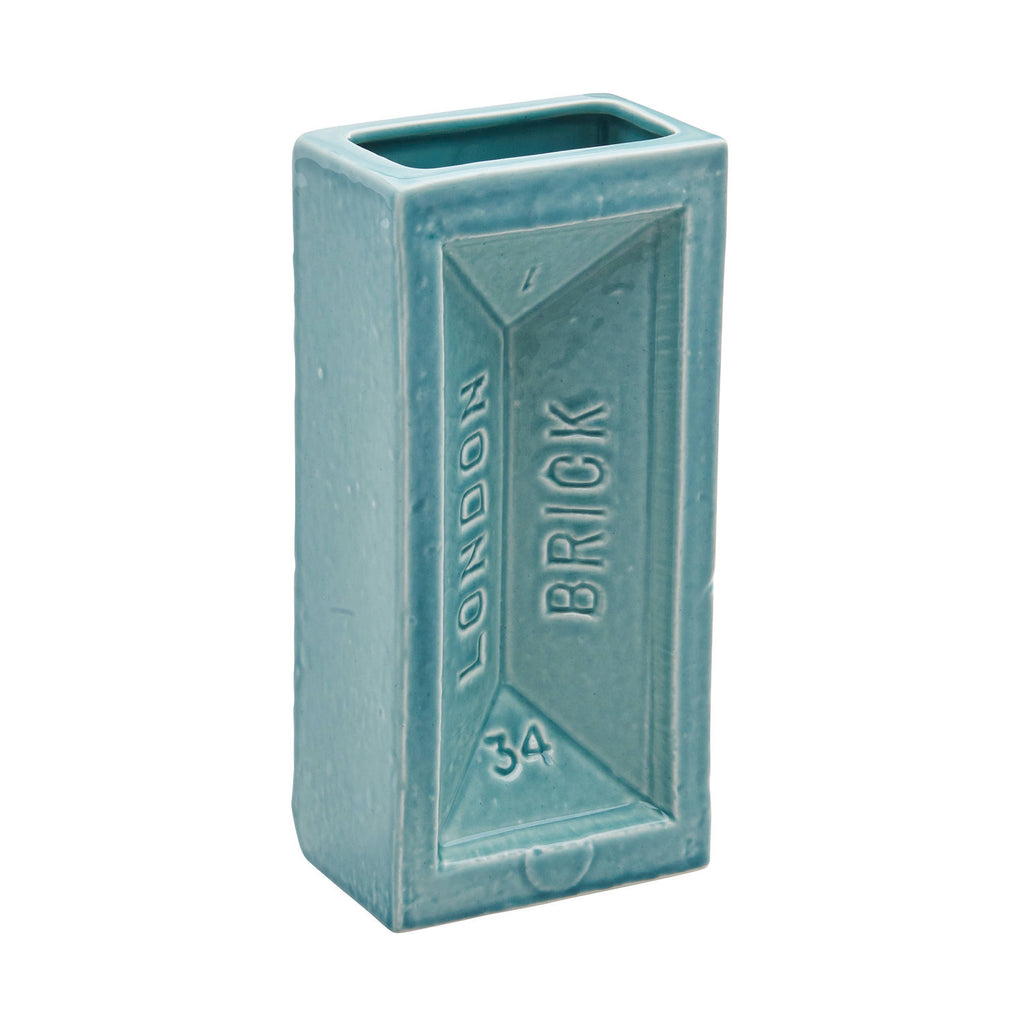 London Brick Vase - Turquoise