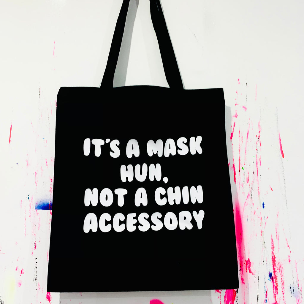 IT'S A MASK HUN Tote Bag - Black