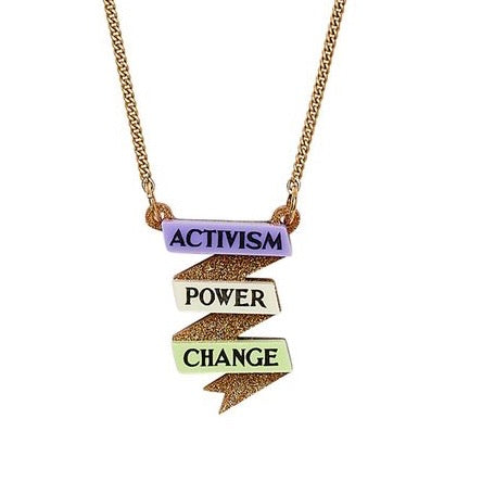 Activism Scroll Necklace - TATTY DEVINE