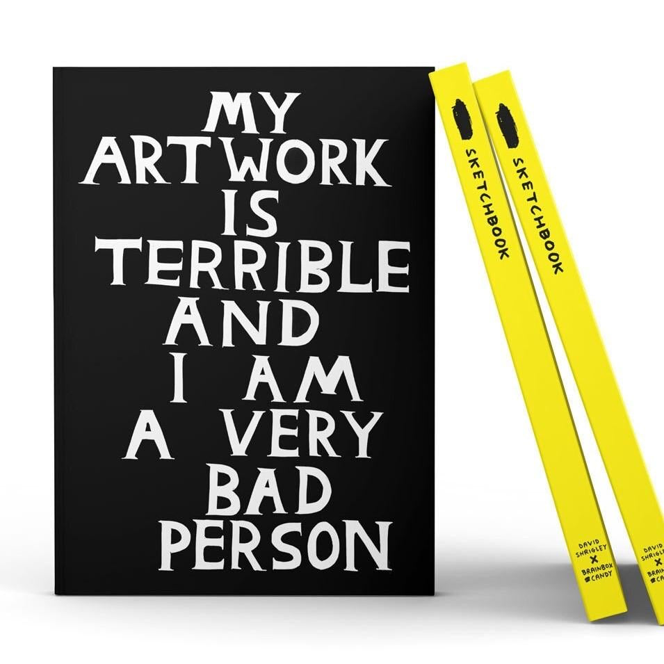 My Artwork Is Terrible Sketchbook by David Shrigley