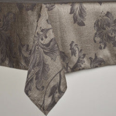Charcoal Splendor Table Cloth  - ONLY 2 Left!