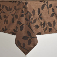 Copper Leaves Table Cloth