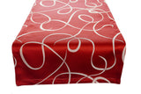 Cranberry Swirl Table Runner
