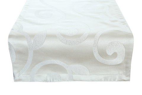 Ivory Dove Reversible Table Runner