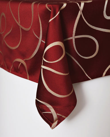 Cranberry Swirl Table Cloth