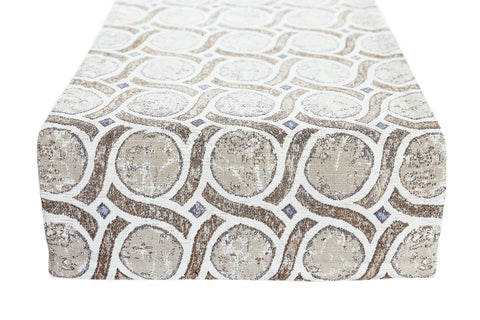 Khaki Blues Reversible Table Runner