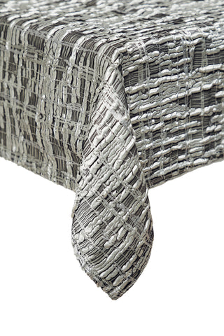 Pewter Rocks Table Cloth