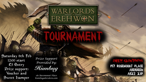 Warlords of Erehwon Tournament