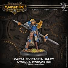 Cygnar Warcaster Captain Victoria Haley