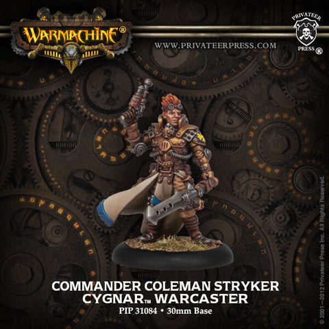 Cygnar Warcaster Comm. Coleman Stryker