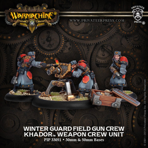 Khador Winter Guard Field Gun Crew