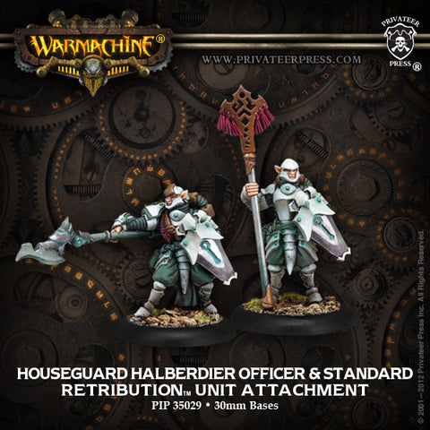 Retribution Houseguard Halberdier Officer & Standard