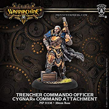 Cygnar Trencher Commando Officer