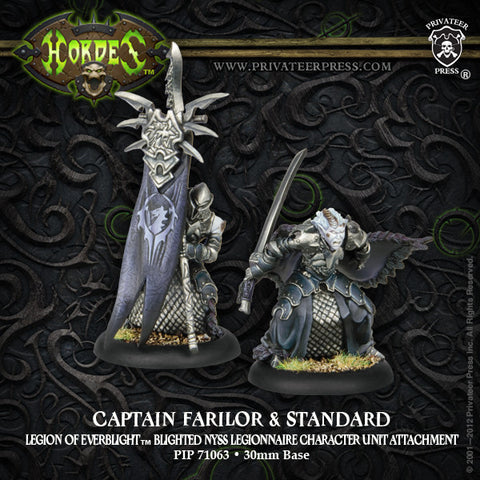 Legion Blighted Nyss Legionnaire Captain Farilor & Std
