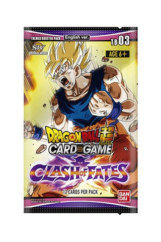 Dragonball SCG Season 3 Themed Booster Display Clash of Fate