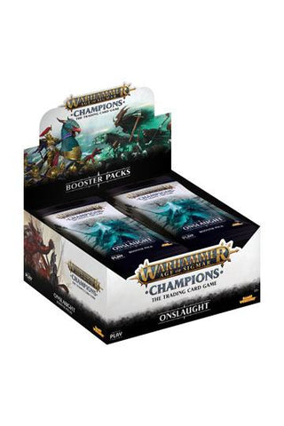 Warhammer Age of Sigmar: Champions Wave 2: Onslaught Booster Display