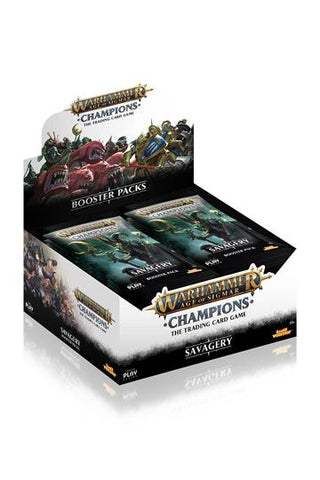 Warhammer Age of Sigmar: Champions Wave 3: Savagery Booster Display