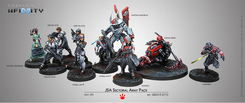 JSA Sectorial Army Pack with Kaizoku Spec-Ops (JSA Pre-Order Exclusive Model)