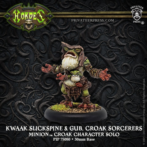 Minion Croak Sorcerers Kwaak Slickspine & Gub