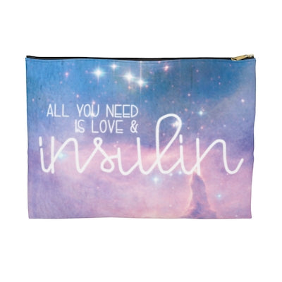 """All You Need is Love & Insulin"" - Printed Supply Bag"