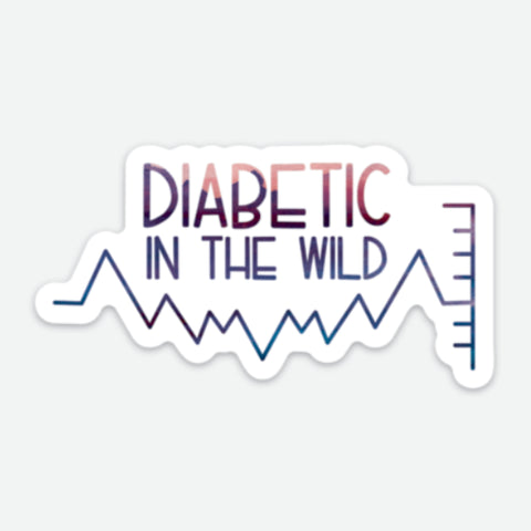 Diabetic in the Wild - T1D Large Sticker - FREE SHIPPING