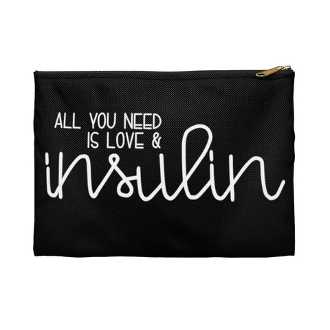 "SALE - ""All You Need is Love & Insulin"" - HTV - Supply Bag"