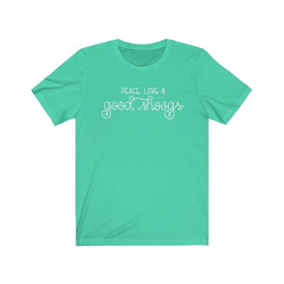 """Peace, Love & Good Shoogs"" - Diabetes T-Shirt"