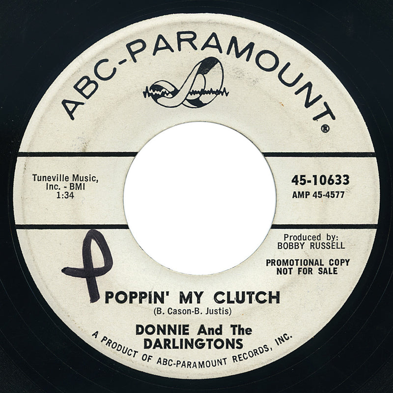 Donnie And The Darlingtons – Poppin' My Clutch – ABC-Paramount