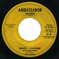 RPM's - White Lightnin' (It's Frightnin') / Down - Ambassador