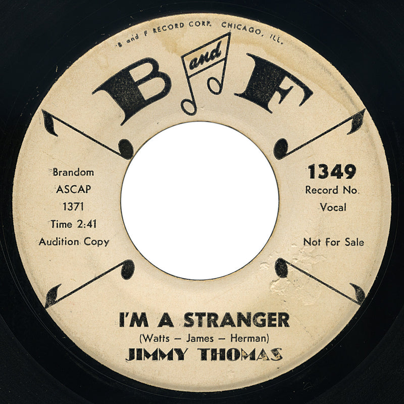 Jimmy Thomas – I'm A Stranger – B and F