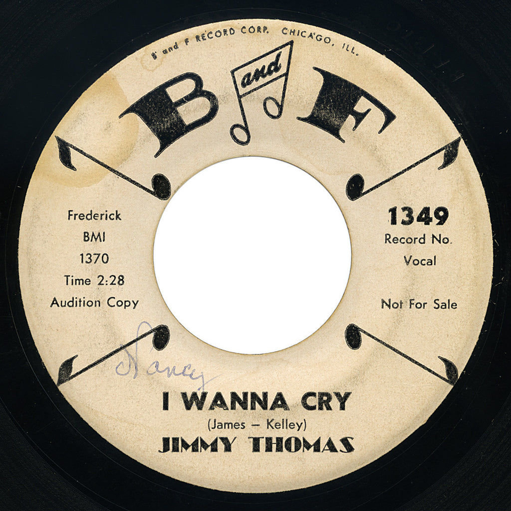 Jimmy Thomas – I Wanna Cry – B and F