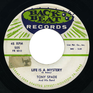 Tony Spade - What's Gwyne On? / Life Is A Mystery - Back Beat