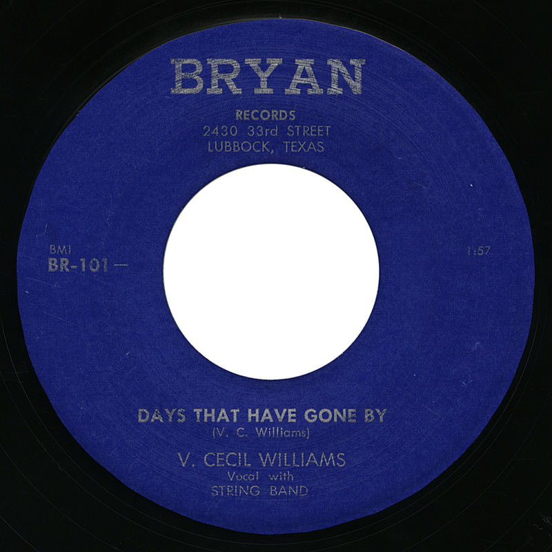 V. Cecil Williams – Days That Have Gone By – Bryan