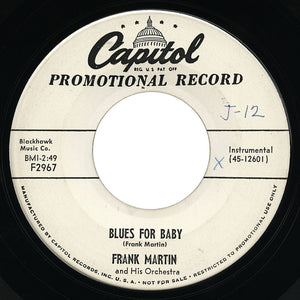 Frank Martin – Blues For Baby – Capitol