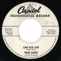Frank Martin – Come Back Baby – Capitol