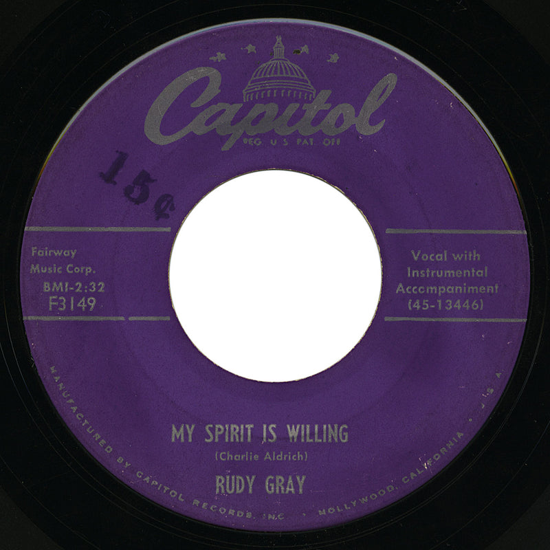 Rudy Gray – My Spirit Is Willing – Capitol