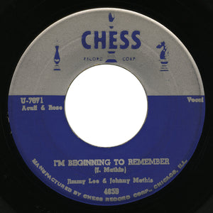 Jimmy Lee & Johnny Mathis – I'm Beginning To Remember – Chess