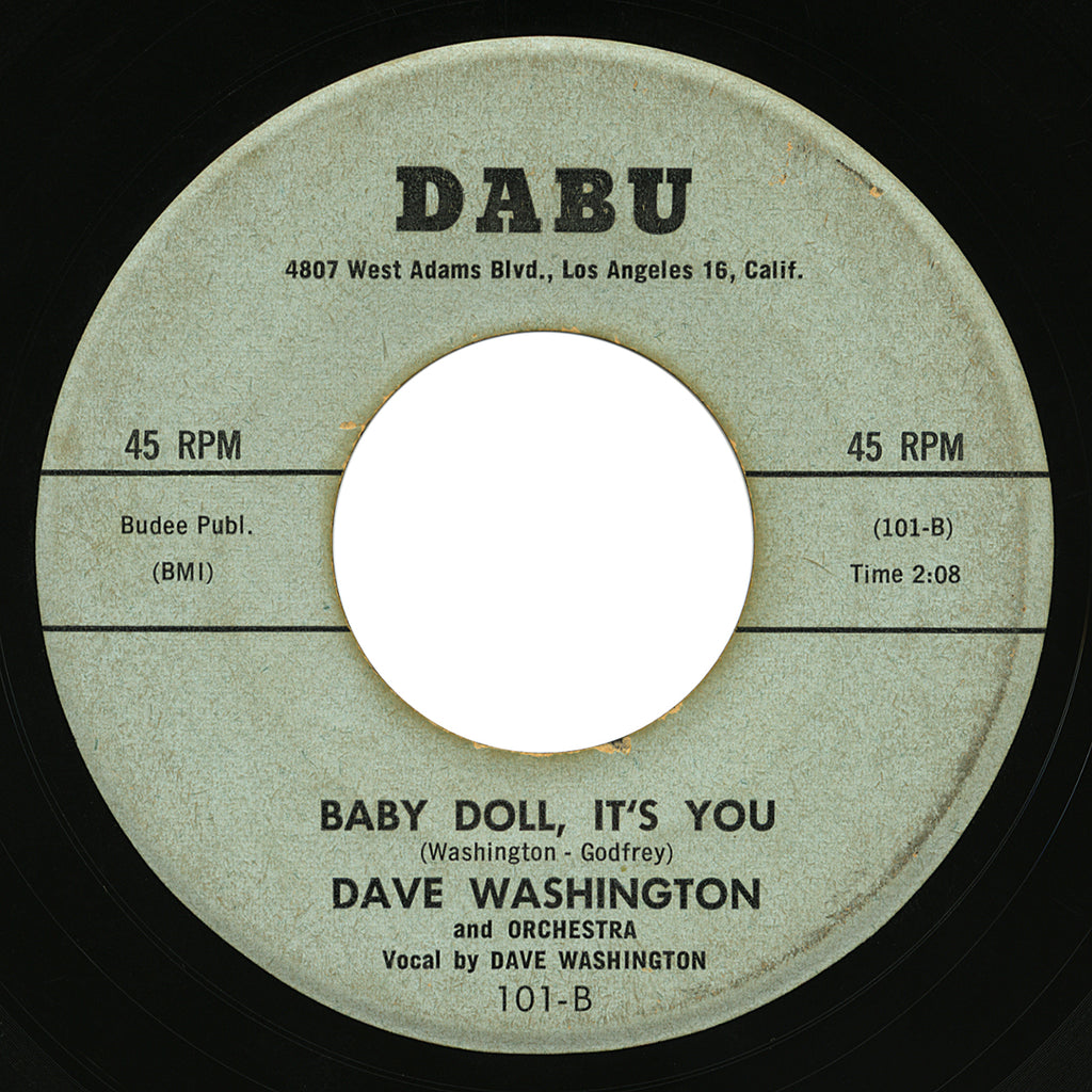 Dave Washington – Baby Doll, It's You – Dabu