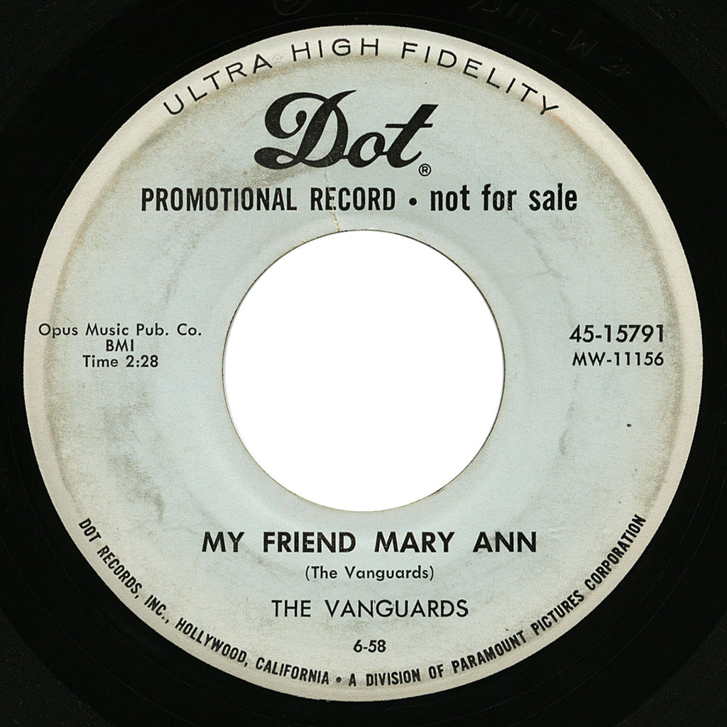 Vanguards – My Friend Mary Ann – Dot