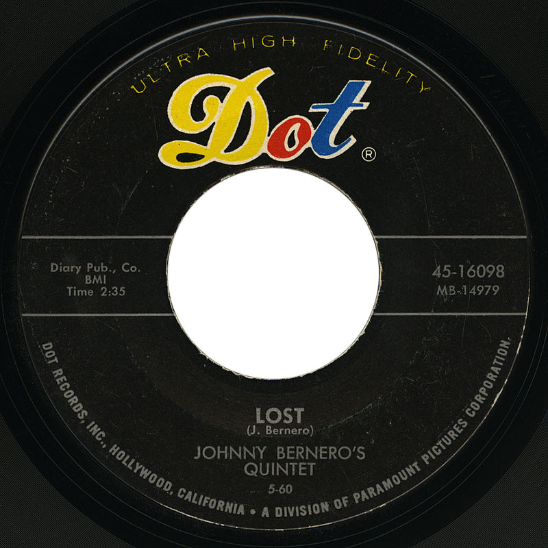 Johnny Bernero's Quintet – Lost – Dot