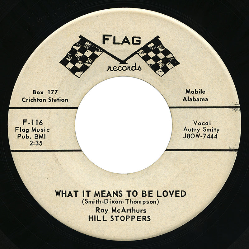Ray McArthurs Hill Stoppers – What It Means To Be Loved – Flag