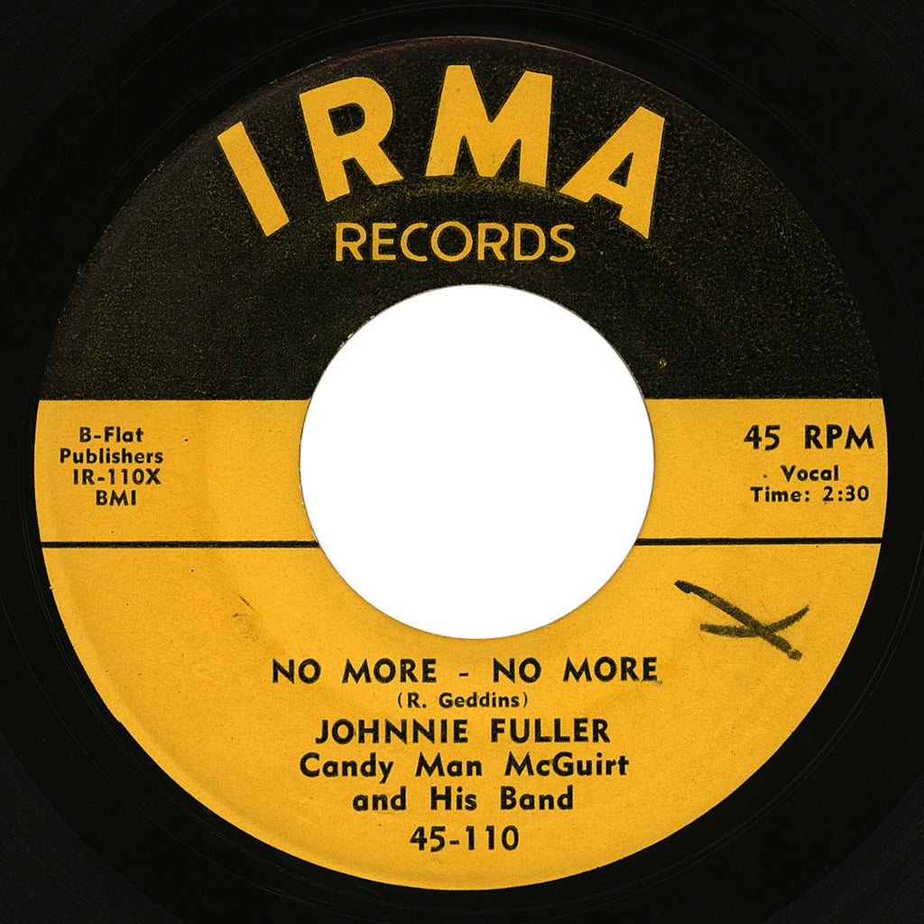 Johnnie Fuller – No More-No More – Irma